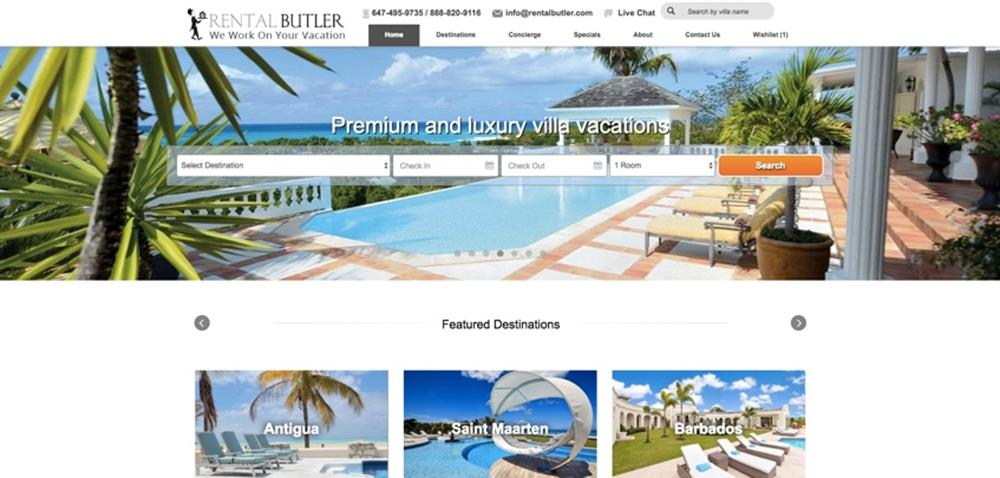Rental Butler website